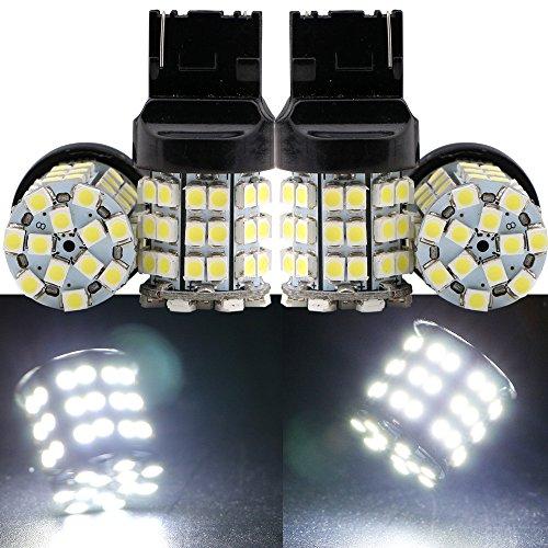 Grandview 4 Pcs Bianco 7440 7440 na 7441 1210 54-smd LED Turn Signal Light Bulb 12 V lampadina di ricambio T20 W21-5W 21W 5W W3X16Q ECE per coda freno Girare Backup Luci di parcheggio - Bmw Coda Lampadina