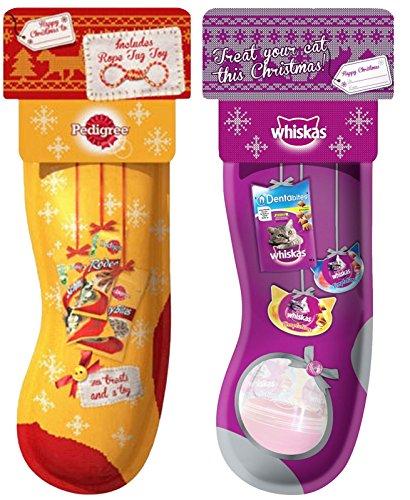 Pedigree Christmas Dog Stocking and Whiskas Cat Christmas Stocking