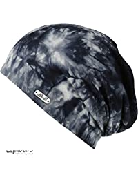 CHILLOUTS Adelaide Unisex Batic Style Beanie Hat in Blue White e866dfc7bd3a