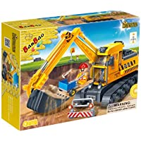 Price comparsion for BanBao Building Blocks Bricks Construction Yellow Bucket Digger - Best Selling Toys & Games Creative Boy Child Children Boys Kids - Great Idea for Fun Easter, Birthday Xmas, Christmas, Stocking Filler Present Gift or Reward or Pocket Money Treat - One Sup