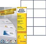 Avery Zweckform 3427 Universal-Etiketten (A4, Papier matt, 800 Etiketten, 105 x 74 mm) 100 Blatt weiß