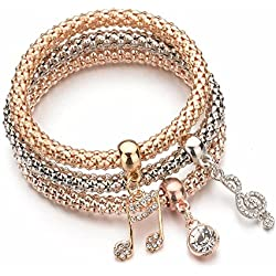 Shining Diva Fashion Jewellery Gold Crystal Charm Bracelets For Girls