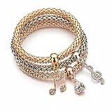 #6: Shining Diva Fashion Jewellery Gold Crystal Charm Bracelets For Girls