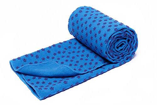 Secado rápido antideslizante estera de Yoga toallas con malla bolsa de transporte, extra larga (62x 183cm/24.4inchesx72inches) Dot Grip Bikram Yoga Mat Toalla