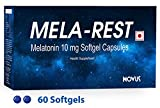 #6: Sleeping Aid Pills - MELA-REST (60 Softgel Capsules): Melatonin 10mg - Non Habit Forming - Improve Sleep - Natural Sleep Aid - Deep Sleep