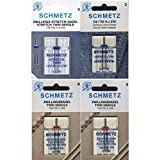 Schmetz Nadelsortiment Stretch Twin/ Jeans Twin/ Universal Twin/ System...