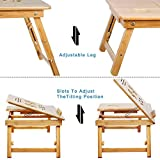 Smart matto Bamboo Multi Purpose Laptop Table with Two Cooling Fans and a Drawer
