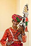 Young Man in Playing Old Fashioned Instrument Called a Sarangi, Agra, India Poster Print by Bill Bachmann (18 x 24)