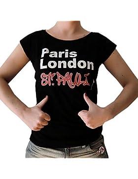 Camisa Mujeres METROPOLE PARIS LONDON ST PAULI de kiezkicker en Negro
