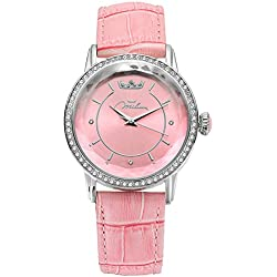 Watch Women's Pink Leather ORL1001_R35 Crystal Moments Xiao Yan