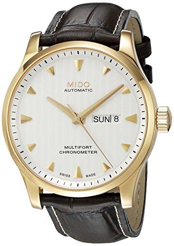 Mido Herren Analog Automatik Uhr mit Leder Armband M0054313603100