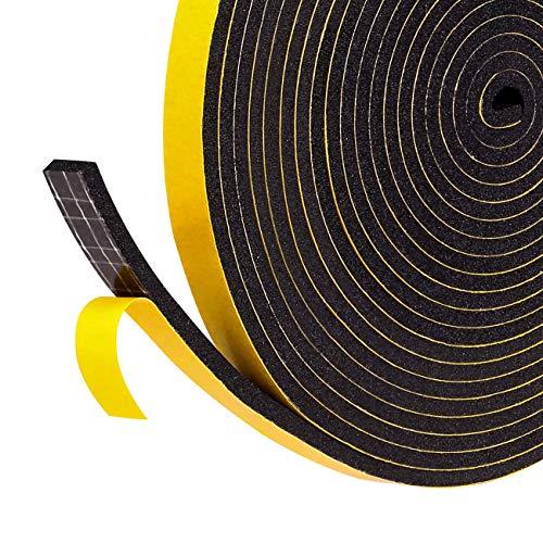 Fowong Cinta autoadhesiva de espuma para puerta o ventana, para el hogar, con sistema de aislamiento insonorizado, color amarillo, amarillo