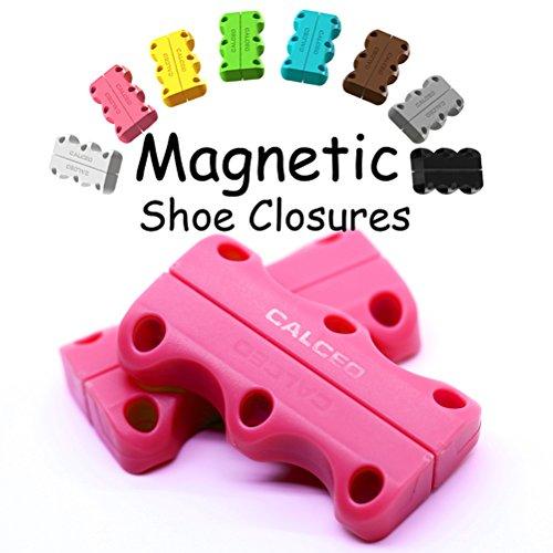 Magnétiques Fermetures Chaussures Avec 1 paires Chancres de Ancres 1 Paire Lacets, vous aider à porter vos chaussures de sport sans T et les nœuds devraient
