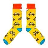 CUP OF SOX - Bikes/Fahrrad / Hipster - Socken in der Tasse - Herren und Damen Geschenksocken Freizeit Socken (37-40)