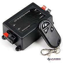 LinkSquare 3 Teclas RF Inalámbrico del Mando a Distancia + CC 12V / 24V 8A 192W RF Dimmer Controlador para Tiras de iluminación de un Solo Color Monocromo LED SMD Luz