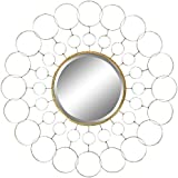 Aspire 4493 Avalon Gold Metal Wall Mirror