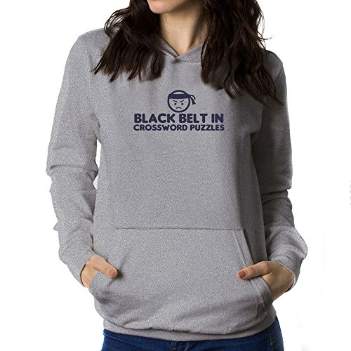 Teeburon BLACK BELT IN Crossword Puzzles Sudadera con capucha para mujer