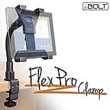 Ibolt Tabdock Flexpro clamp- Heavy Duty c-clamp Mount for all 17,8cm–25,4cm tablet (iPad, Nexus, Samsung Galaxy Tab) per scrivanie, tavoli, sedie a rotelle, carrelli, etc: ideale per abitazioni, scuole, uffici e