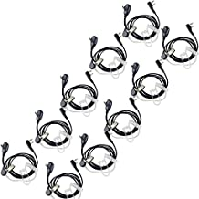 Retevis Kit Bodyguard Auricular Transparente Antirruido Con Micrófono PTT para Walkie-talkis KENWOOD PUXING QUANSHENG TYT HYT BAOFENG BF-888S UV5R H777 (10 pack)
