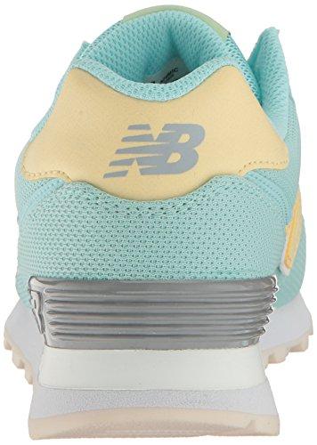 New Balance Wl574, Bottes Classiques Femme Ozone Blue Glow/Silver Mink/Pollen