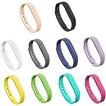 gincoband 10pcs Fitbit Flex 2bandas de repuesto para Fitbit Flex 2pulsera no Tracker, set of 10