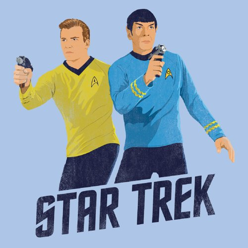 Star Trek - Herren Phaser Bereit T-Shirt in hellblau Light Blue