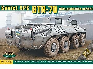 Ace ace72166-Maqueta de BTR de 70Soviet Armored Personnel Carrier Late Prod
