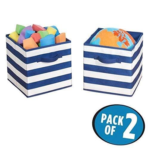 mDesign Juego de 2 cajas organizadoras para guardar juguetes – Cestas de...