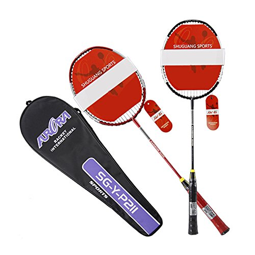 finoki Raqueta de bádminton raqueta bádminton raqueta de bádminton raqueta de Juego con funda para niños adultos