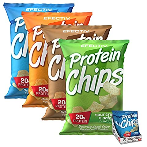 Efectiv On the Go Protein Chips Lite Bites 20g Protein Snack 40g x 6 (Mixed / Variety Flavours)