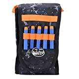 Dilwe Bullet Bag Morbida, Portable Nerf Bullet Freccette Storage Multi-Funzionale Borsa a Tracolla Singola Attrezzatura per Pistola Giocattolo Nerf N-Strike Elite Series