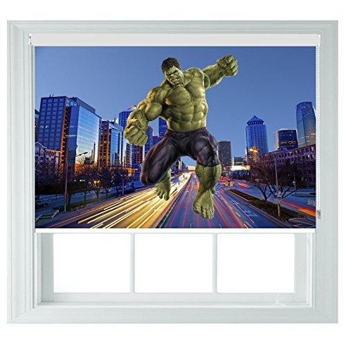 Hulk avengers style avvolgibili ideale per bagno, cucina, camera da letto e camper, tessuto, 122cmx120cm