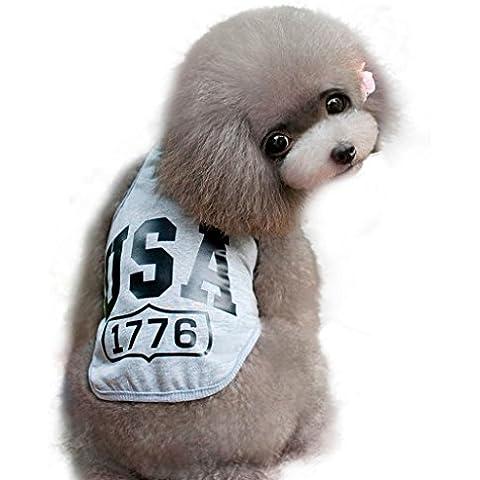 Ouneed® [Usa 1776] Vestiti Di Puppy Dog Cat Vest Maglietta