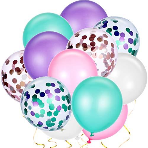 rau Luftballons Bunte Latex Ballon Konfetti Luftballons für Meerjungfrau Hochzeit Geburtstag Party Gefallen ()