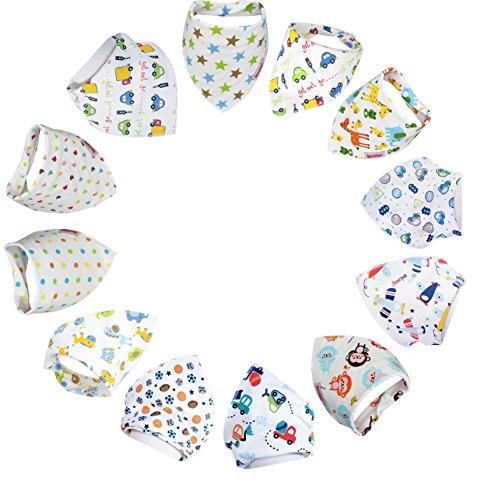 en Super saugfähige reine Baumwolle Stilvolles Bandana / Dribble Saugfähiger Zoo Entwurf für Babys und Kleinkind ()
