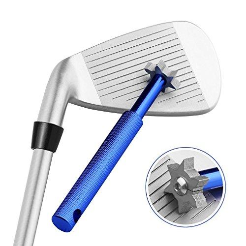 Yandu Golf Club Cleaner Groove Sharpener und Werkzeug mit 6 Köpfen (Blue) -