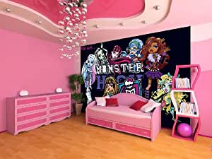 vlies fototapete fototapeten tapete tapeten poster wandbild monster high 982 ve. Black Bedroom Furniture Sets. Home Design Ideas