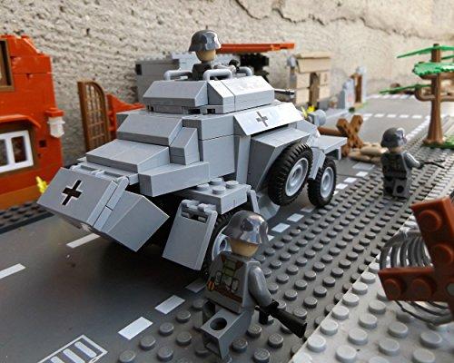 Cobi 2366 Sonderedition – Panzerspähwagen Sd.Kfz. 222 inkl. custom Wehrmacht Soldat aus original Lego© Teilen - 6