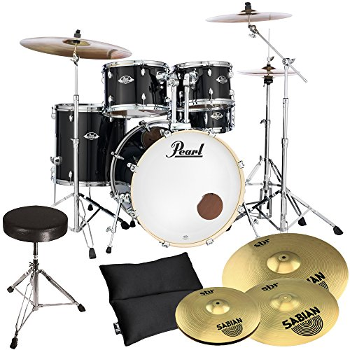 Pearl Export EXX725SZ/C31 Black + Sabian Becken Set + Hocker GRATIS!