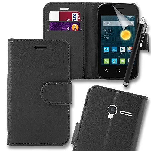connect-zoner-alcatel-pixi-3-35-black-pu-leather-flip-wallet-case-cover-pouch-with-screen-protector-