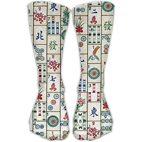 Preisvergleich Produktbild Unisex Casual Crew Socken Mahjong Fliesen Mode Neuheit Socken 50cm