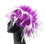Perücke Punk Fasching Frisur 4374 Karneval Neon Haar Peruecken (LILA)