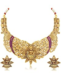 Sukkhi Exquitely Peacock Laxmi Gold Plated Traditional Necklace Set For Women