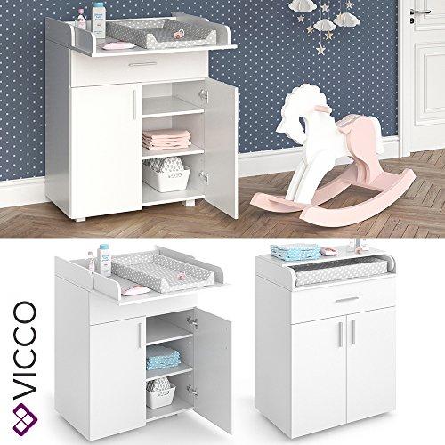 VICCO-Wickeltisch-LENA-Wickelkommode-Baby-Kids-Wickelregal-Babymbel-Kommode-Wickelauflage-mit-Klappfunktion-fr-ausreichend-Platz