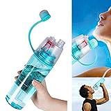 #8: Buyerzone Spray Water Bottle, Sport Anti-Leak Drinking Water Bottle 600ML (Multi Color)