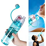 Buyerzone Spray Water Bottle, Sport Anti-Leak Drinking Water Bottle 600ML (Multi Color)