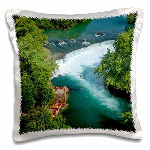 Danita Delimont - Ali Kabas - Waterfalls - Aerial view of Manavgat waterfall, Antalya, Turkey - 16x16 inch Pillow Case (pc_187122_1)