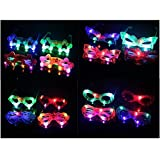 Jiada™ Birthday Return Gifts For Kids - Flashing Party LED Light Glasses - Set Of 6 - For Both Boys And Girls