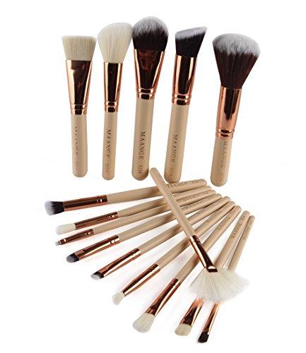 Pinceaux Maquillage, Makeup brushes set,TOPBeauty 15Pcs Maquillage Outils Brush Set Maquillage Trousse De Toilette Laine Maquillage Brush Set