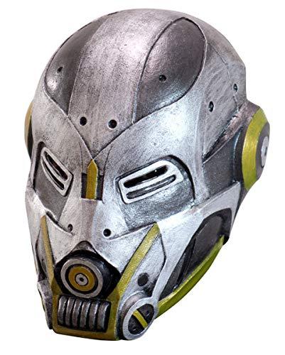 Horror-Shop Sci-Fi Roboter Maske als futuristische Cyborg Verkleidung für Cosplay & Steampunk Events
